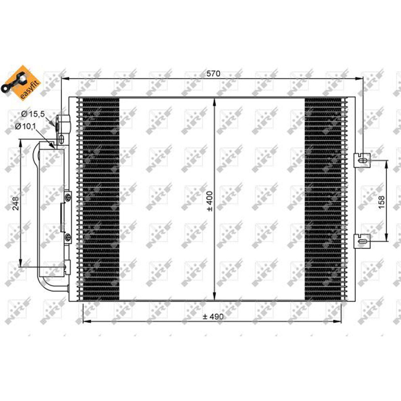 NRF 35879 EASY FIT Kondensator Klima RENAULT Twingo 2 1.2 1.2 16V 58/75/76 PS 8200448252