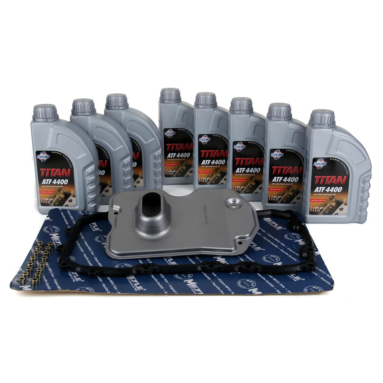 MEYLE Hydraulikfilter + Dichtung + 8L FUCHS für VW Getriebeöl AUDI PORSCHE VW