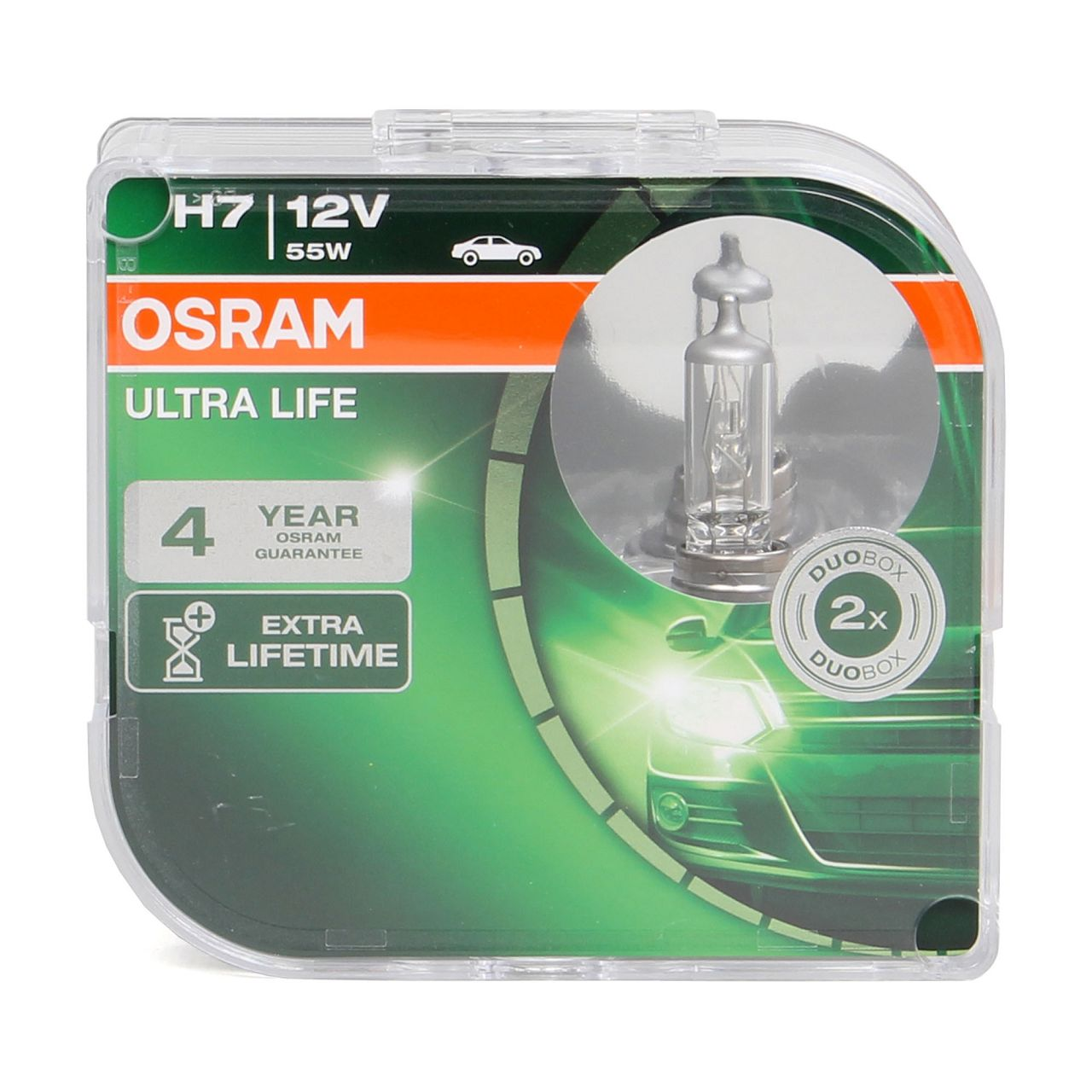 2x OSRAM Halogenlampe H7 ULTRA LIFE 12V 55W PX26d 64210ULT-HCB