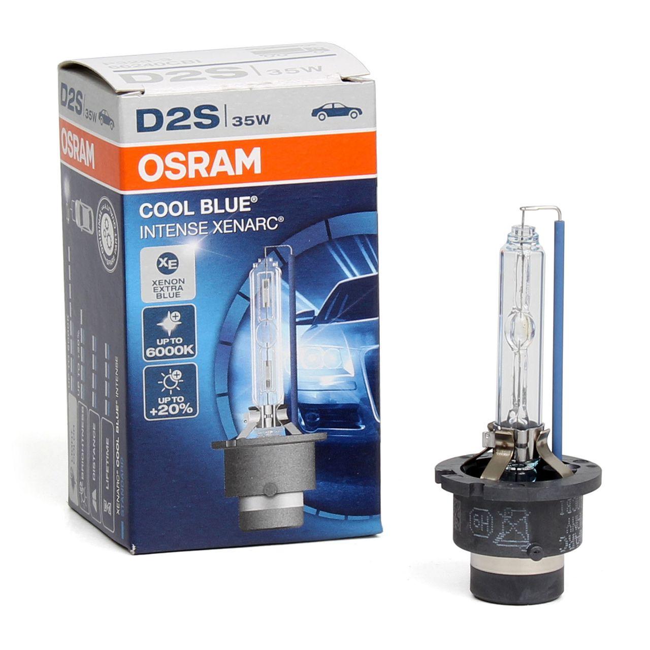 OSRAM Xenarc Xenon Brenner D2S COOL BLUE INTENSE CBI 85V 35W P32d-2 66240CBI