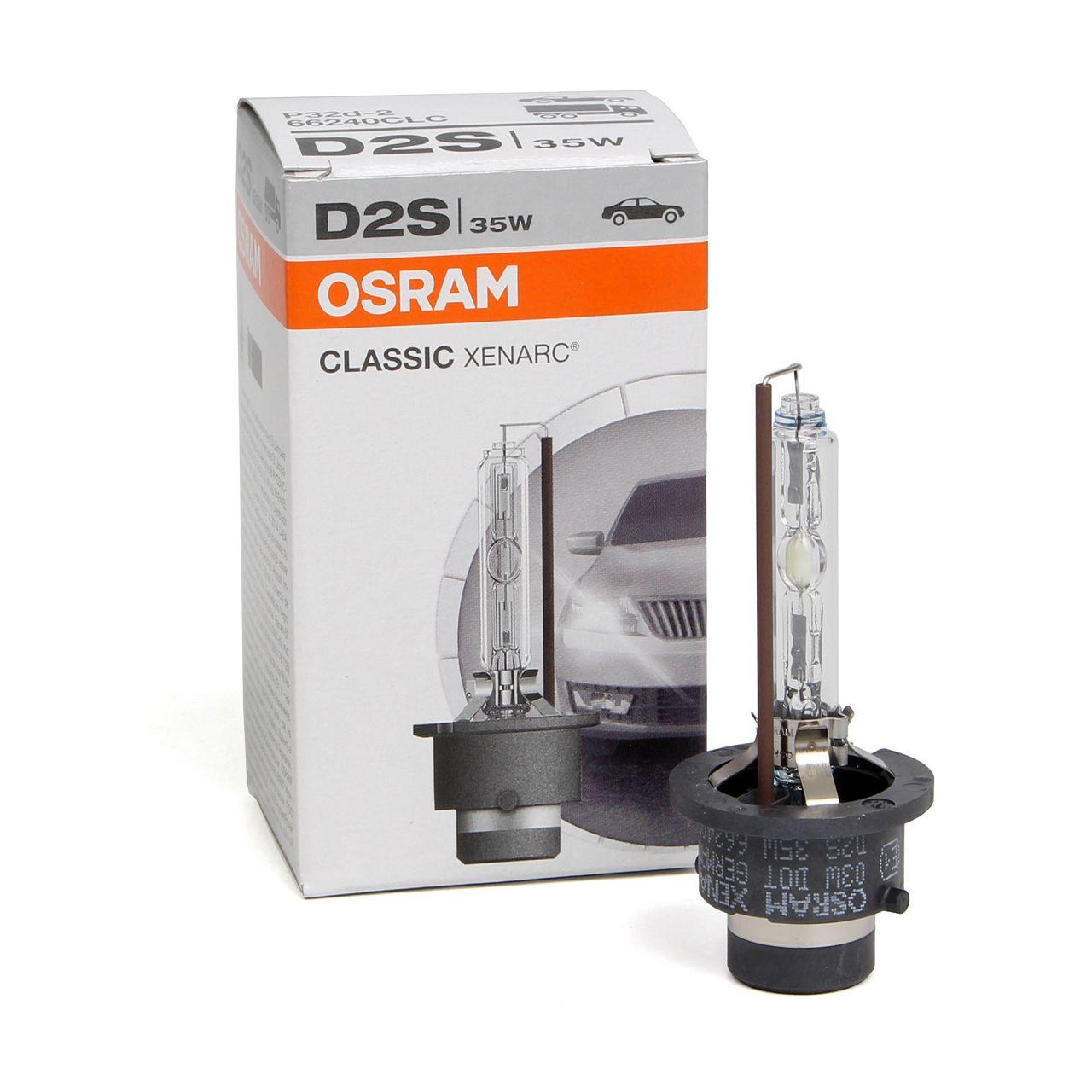 OSRAM 66240CLC Xenarc Xenon Brenner Lampe Scheinwerfer D2S CLASSIC 85V 35W