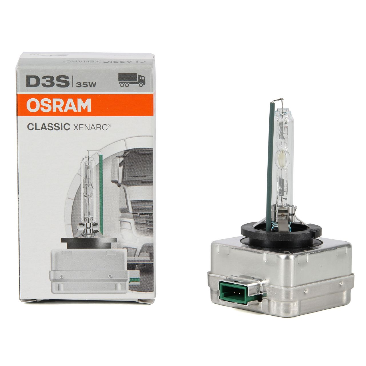 OSRAM Xenon Brenner Lampe CLASSIC XENARC D3S 42V 35W PK32d-5 66340CLC