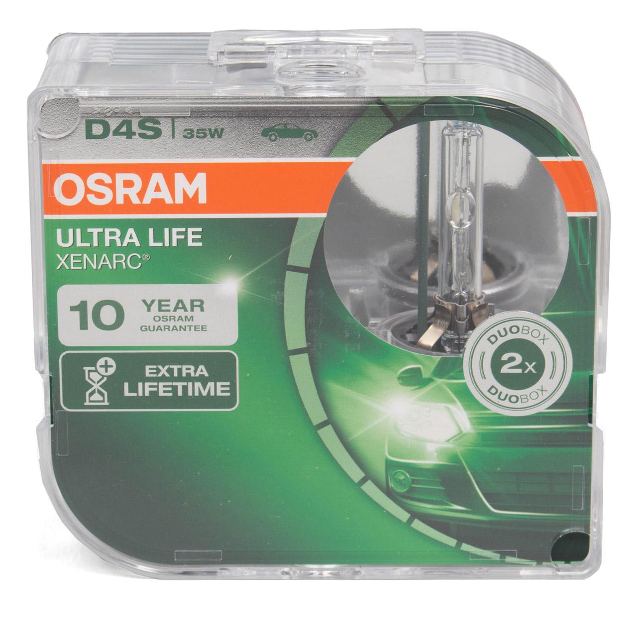 2x OSRAM Xenon Brenner D4S ULTRA LIFE XENARC 42V 35W P32d-5 66440ULT-HCB