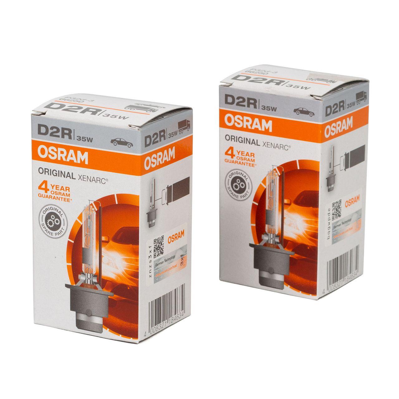 2x OSRAM Xenarc Xenon Brenner D2R ORIGINAL 85V 35W P32d-3 66250