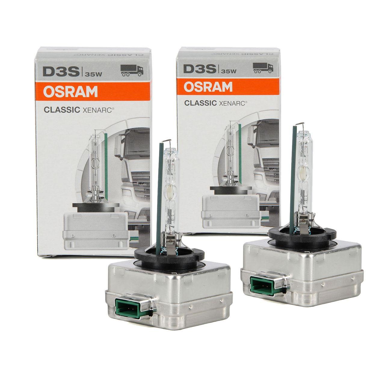 2x OSRAM Xenon Brenner Lampe CLASSIC XENARC D3S 42V 35W PK32d-5 66340CLC