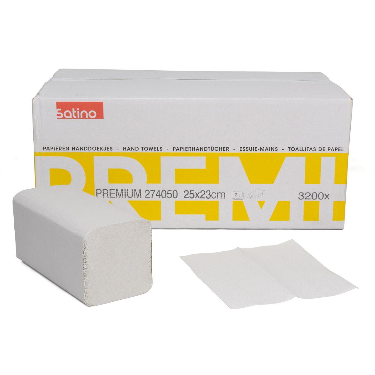 3200 Blatt Handtuchpapier Falthandtücher Papierhandtücher 2-lagig 25x23cm weiss