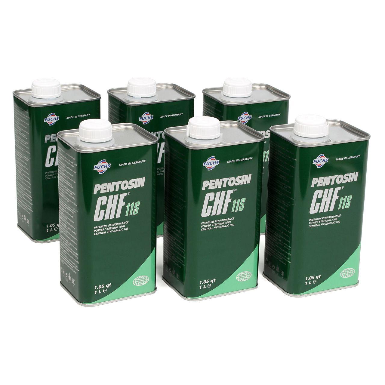 6x 1L 6 Liter PENTOSIN Hydrauliköl Servolenkungsöl CHF 11S MB 0019892403
