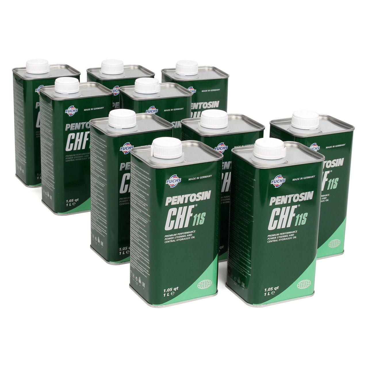 10x 1L 10 Liter PENTOSIN Hydrauliköl Servolenkungsöl CHF 11S MB 0019892403