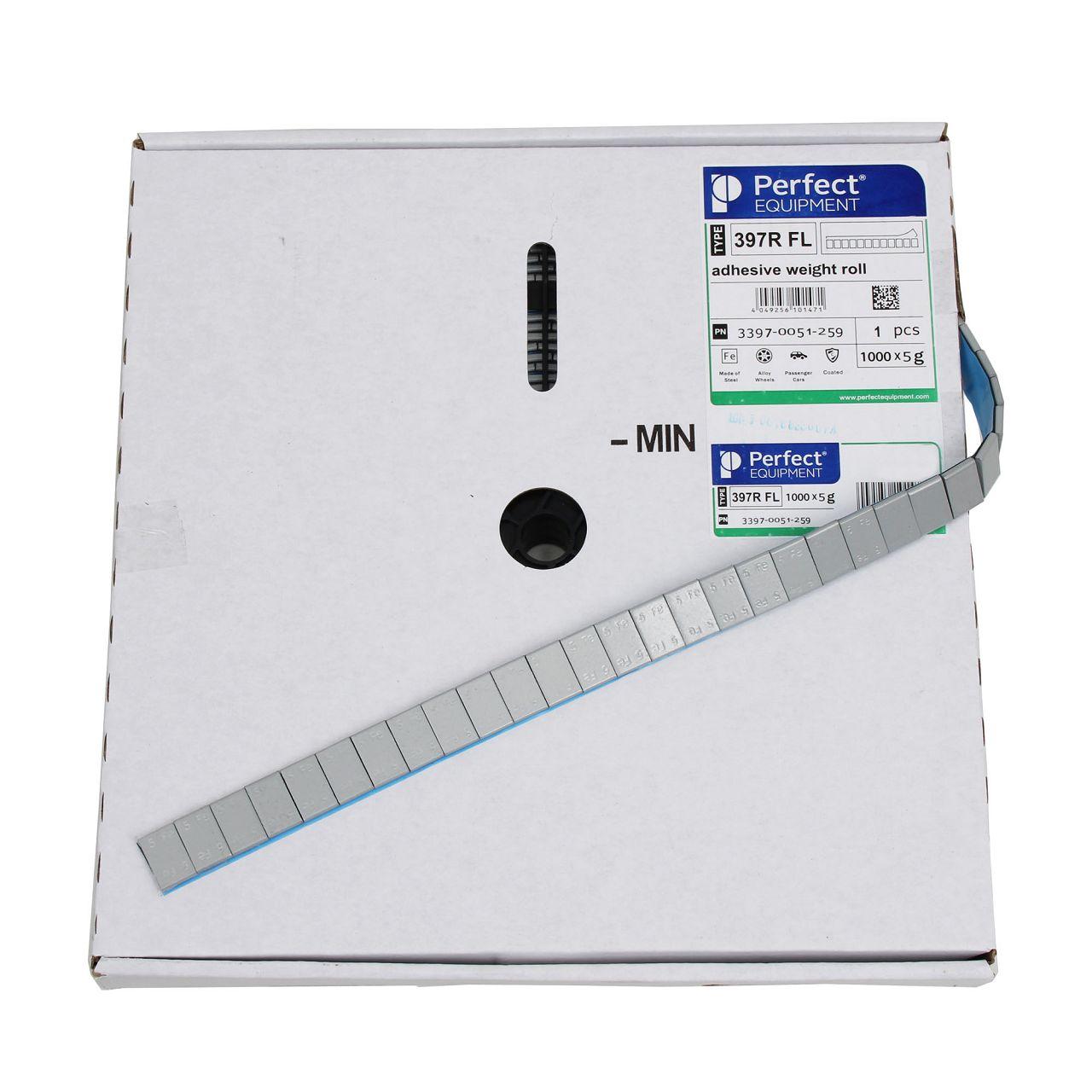 PERFECT Auswuchtgewichte Klebegewichte SILBER-STAHL 3,8mm | 1000 Stück x 5g