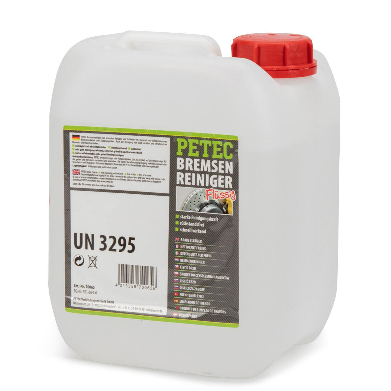 PETEC 70065 Bremsenreiniger Bremsen Reiniger Entfetter Montagereiniger 4000ml 4L