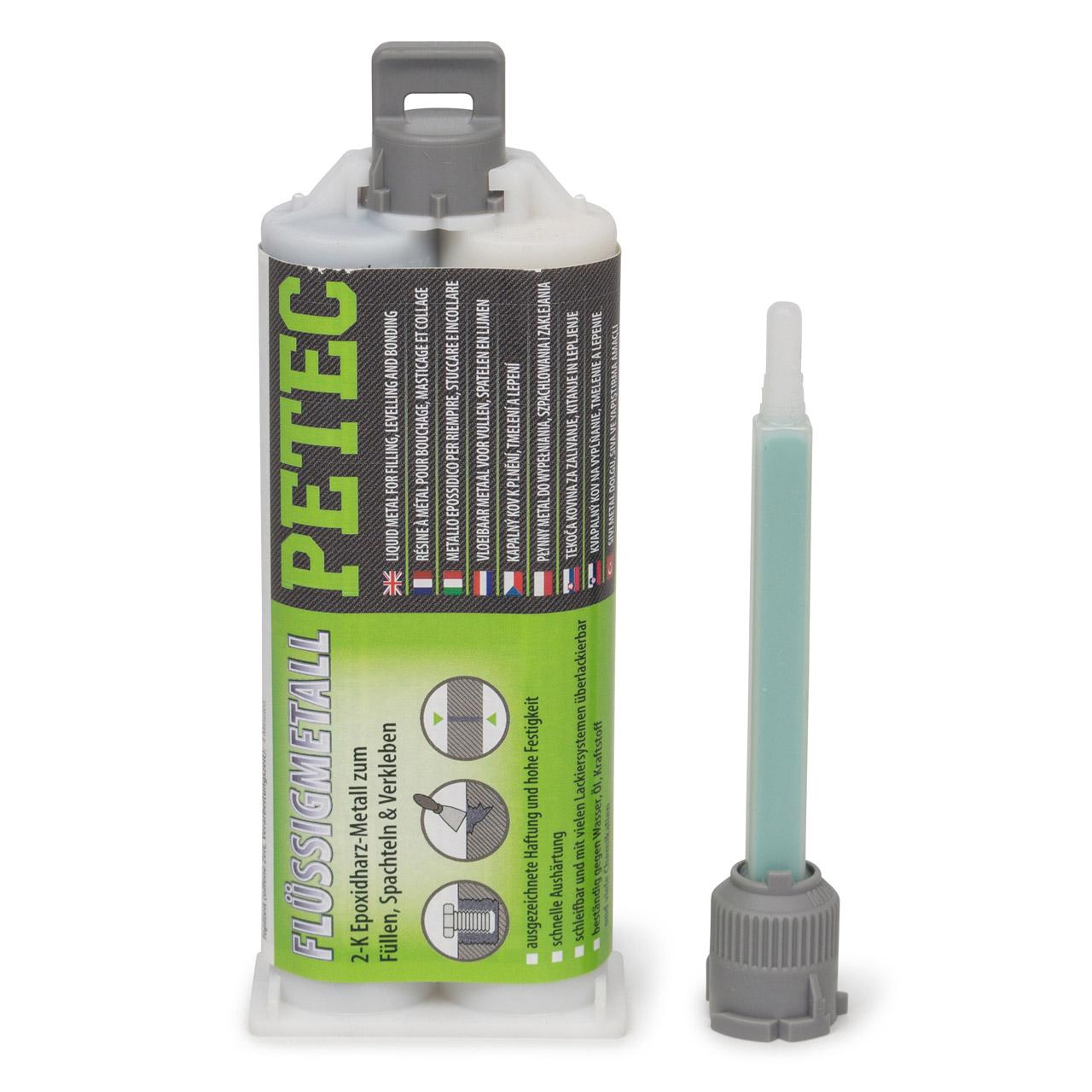PETEC 97355 Flüssigmetall 2-komponentenkleber Epoxidharz-Metall 50ml