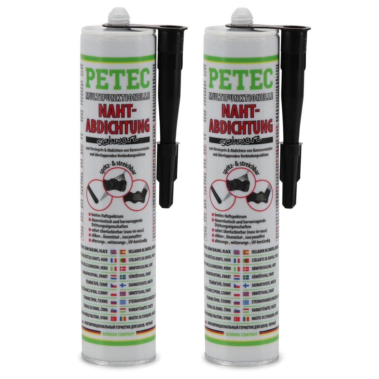 PETEC 94231 Multifunktionelle Nahtabdichtung Karosserieabdichtung 620ml SCHWARZ