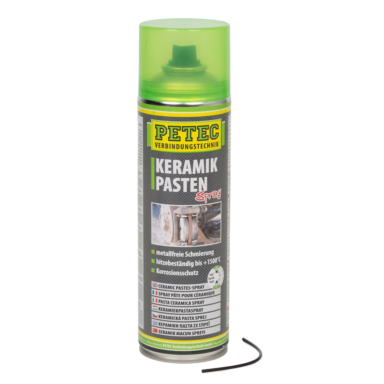 PETEC 70650 Keramikpastenspray Keramikpasten Spray Ceramic bis +1500°C 500ml