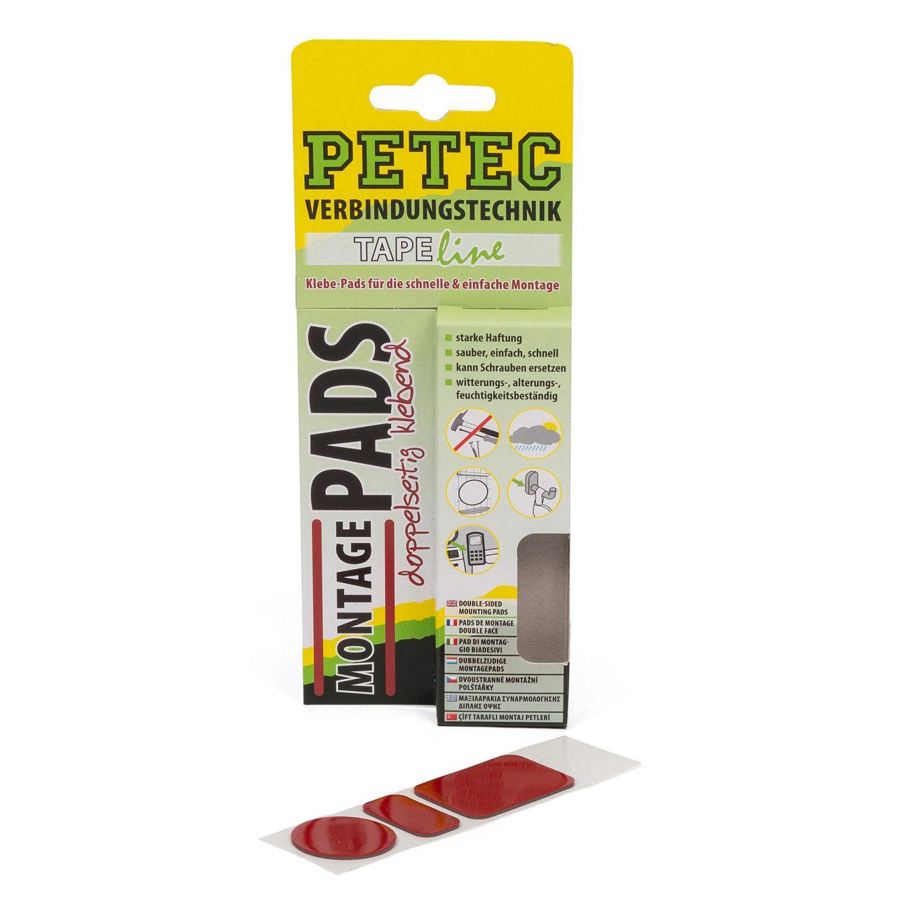 PETEC 87003 TAPELINE Klebe-pads Klebepads Montagepads doppelseitig klebend
