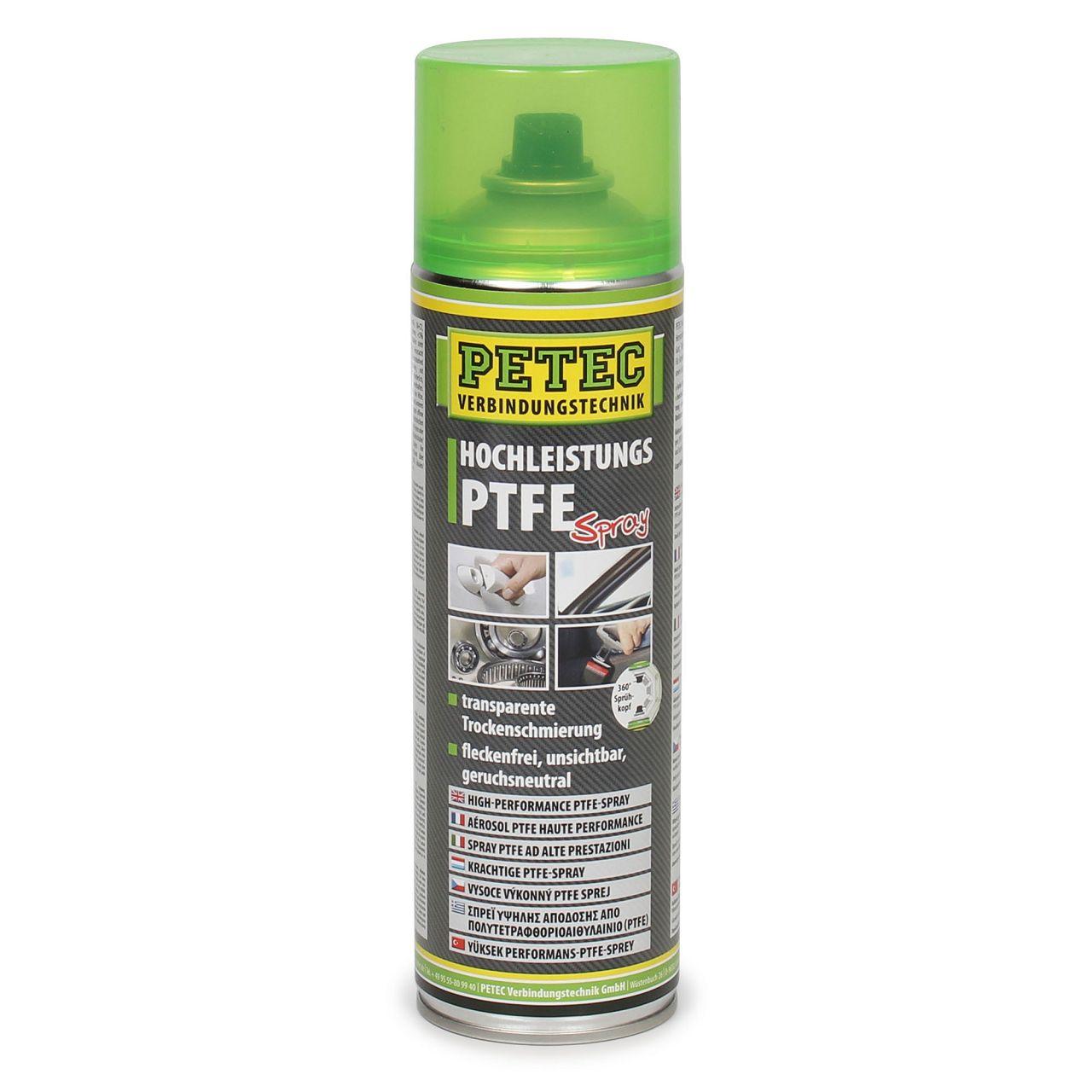 PETEC 74050 Hochleistungs-PTFE Spray Trockenschmierung Schmierstoff 500ml