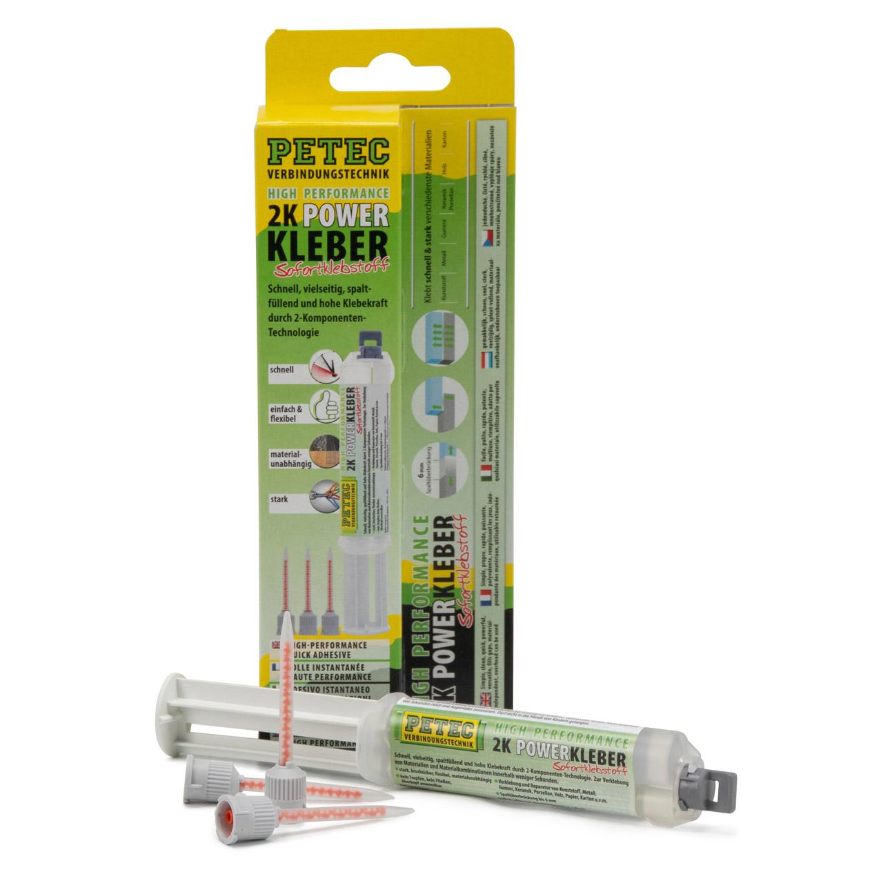 PETEC 93510 2K Power Kleber Klebstoff 2-Komponenten Universalkleber 11ml