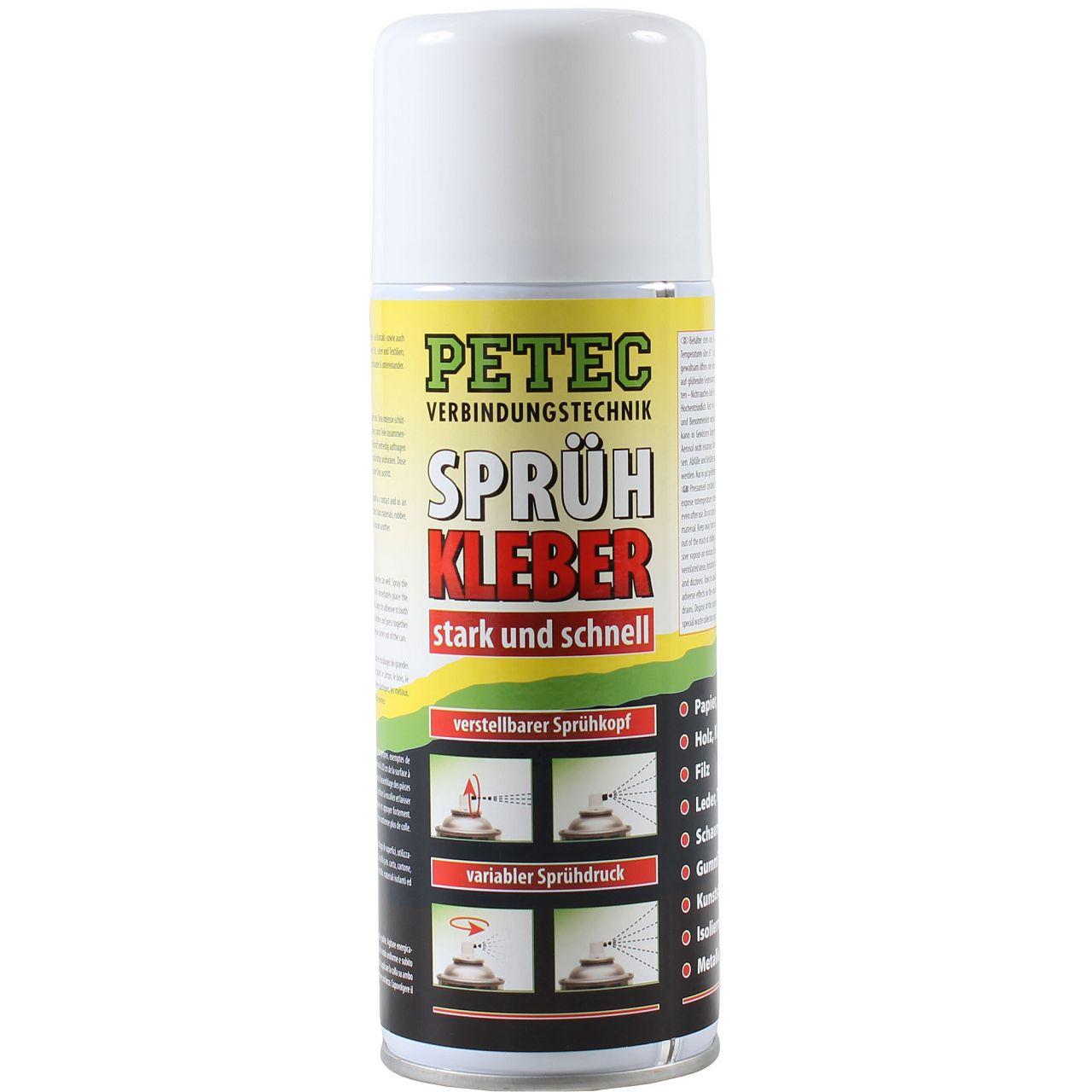 PETEC Sprühkleber Klebstoff stark schnell 400ml 94340