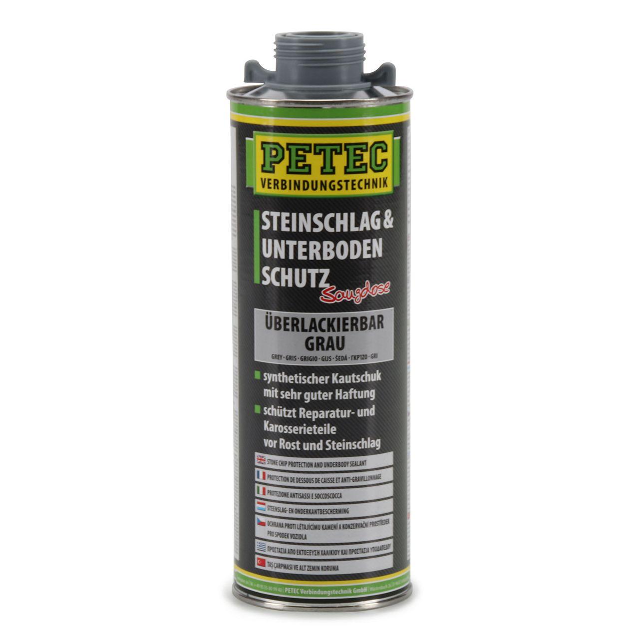 PETEC 73310 Steinschlagschutz Unterbodenschutz Saugdose GRAU 1000ml 1 Liter