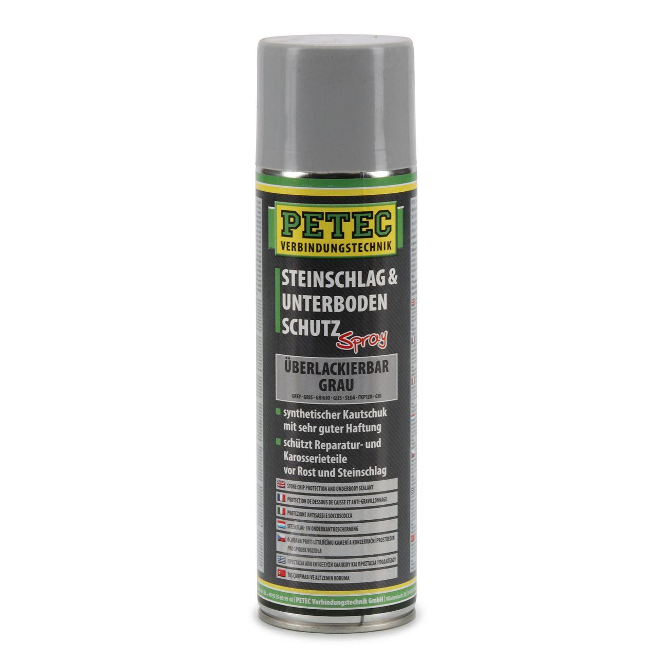 PETEC 73350 Steinschlagschutz Unterbodenschutz Karosserieschutz Spray Grau 500ml