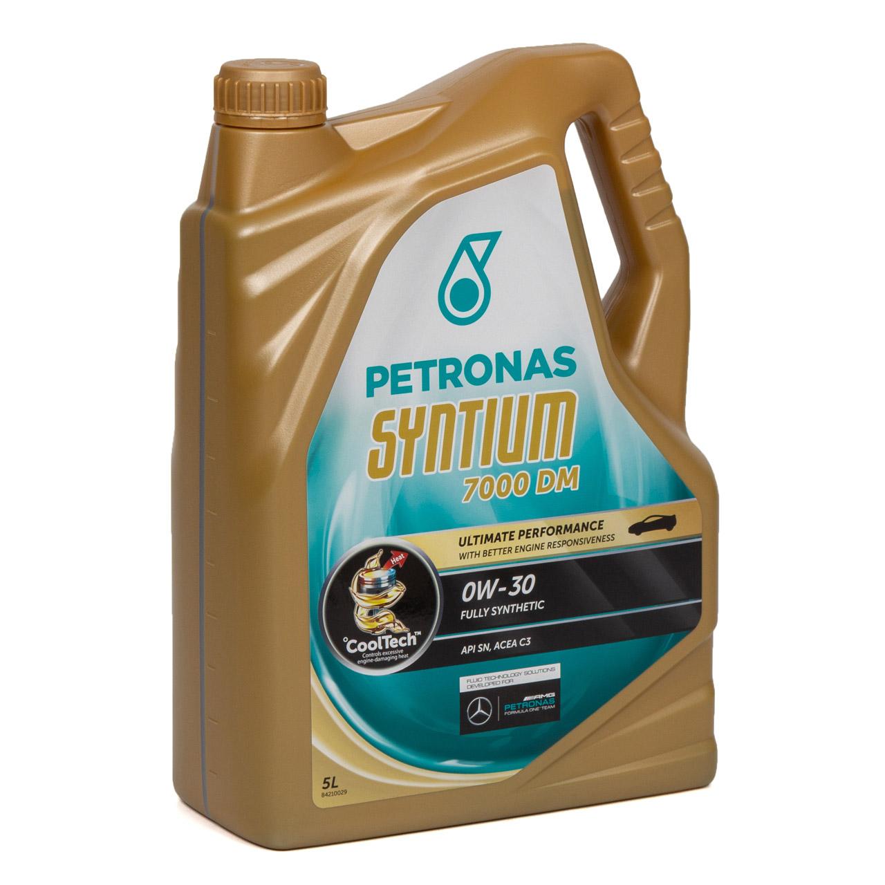 5L PETRONAS Syntium 7000 DM Motoröl 0W-30 0W30 MB 229.51 229.52 RN0700 - 5 Liter
