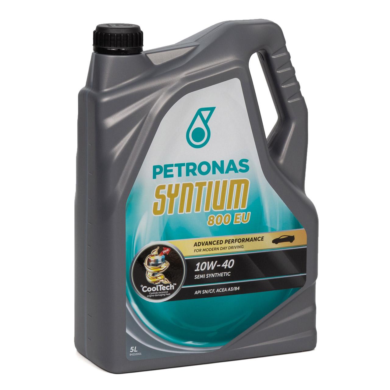 PETRONAS Syntium 800 EU Motoröl Öl 10W40 5L 5Liter MB 229.1 ACEA A3/B4 API SN/CF