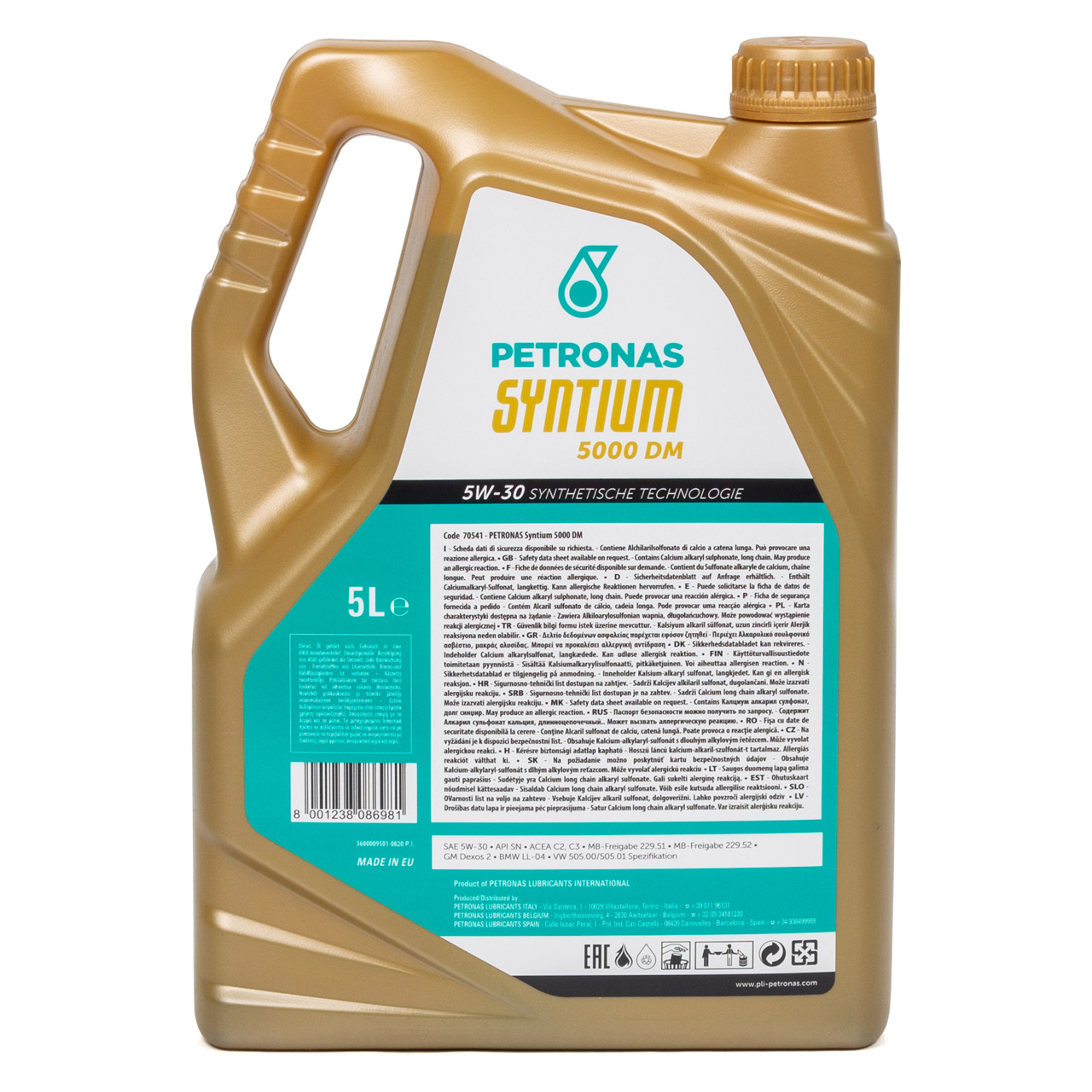 PETRONAS SYNTIUM 5000 DM Motoröl Öl 5W30 MB 229.51/52 VW 505.00/01 - 5L 5 Liter