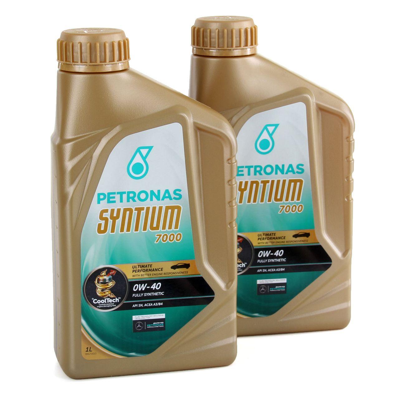 2L PETRONAS Syntium 7000 Motoröl Öl 0W40 ACEA A3/B4 API SN - 2 Liter