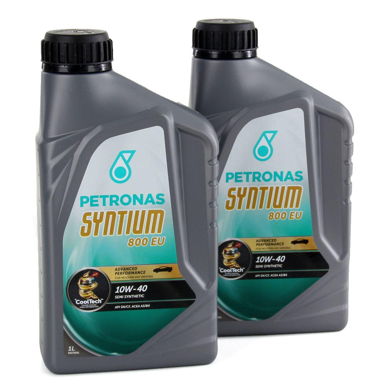 2L PETRONAS Syntium 800 EU Motoröl Öl 10W40 MB 229.1 ACEA A3/B4 API SN/CF