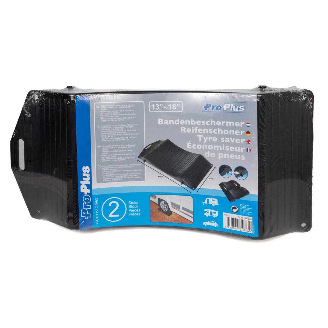 2x PROPLUS Reifenschoner Reifenwiege Standplatte Reifenschutz SCHWARZ 13-18 Zoll