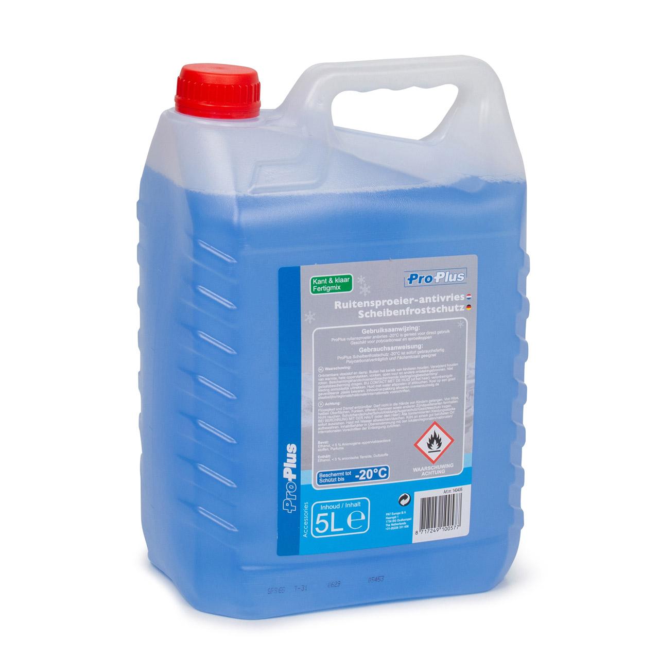 PROPLUS 140406 Frostschutz Scheibenfrostschutz Fertigmix -20°C 5 Liter