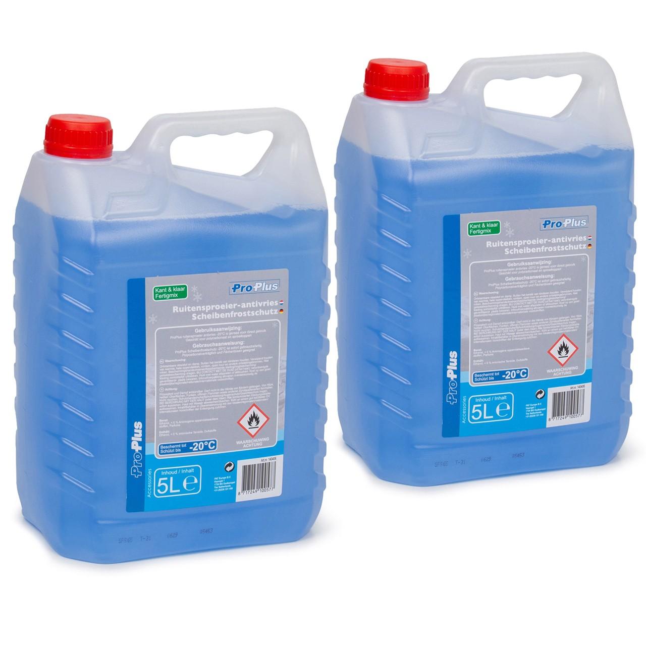 PROPLUS 140406 Frostschutz Scheibenfrostschutz Fertigmix -20°C 2x 5 Liter