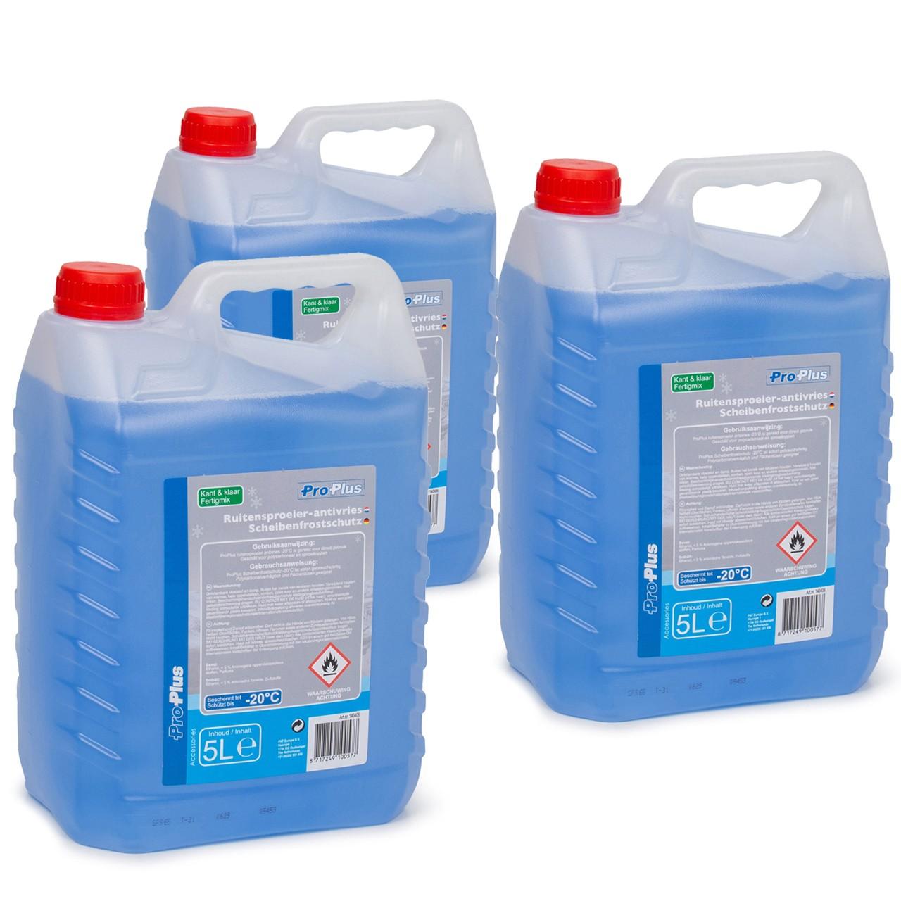 PROPLUS 140406 Frostschutz Scheibenfrostschutz Fertigmix -20°C 3x 5 Liter
