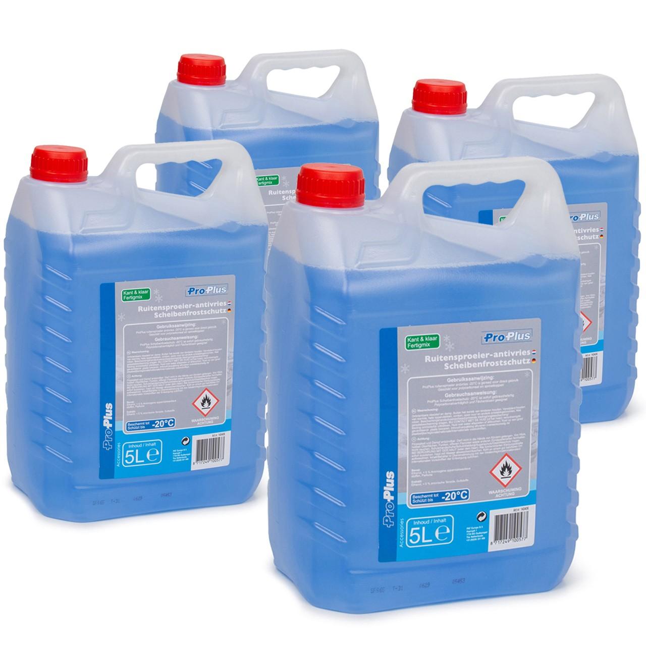 PROPLUS 140406 Frostschutz Scheibenfrostschutz Fertigmix -20°C 4x 5 Liter