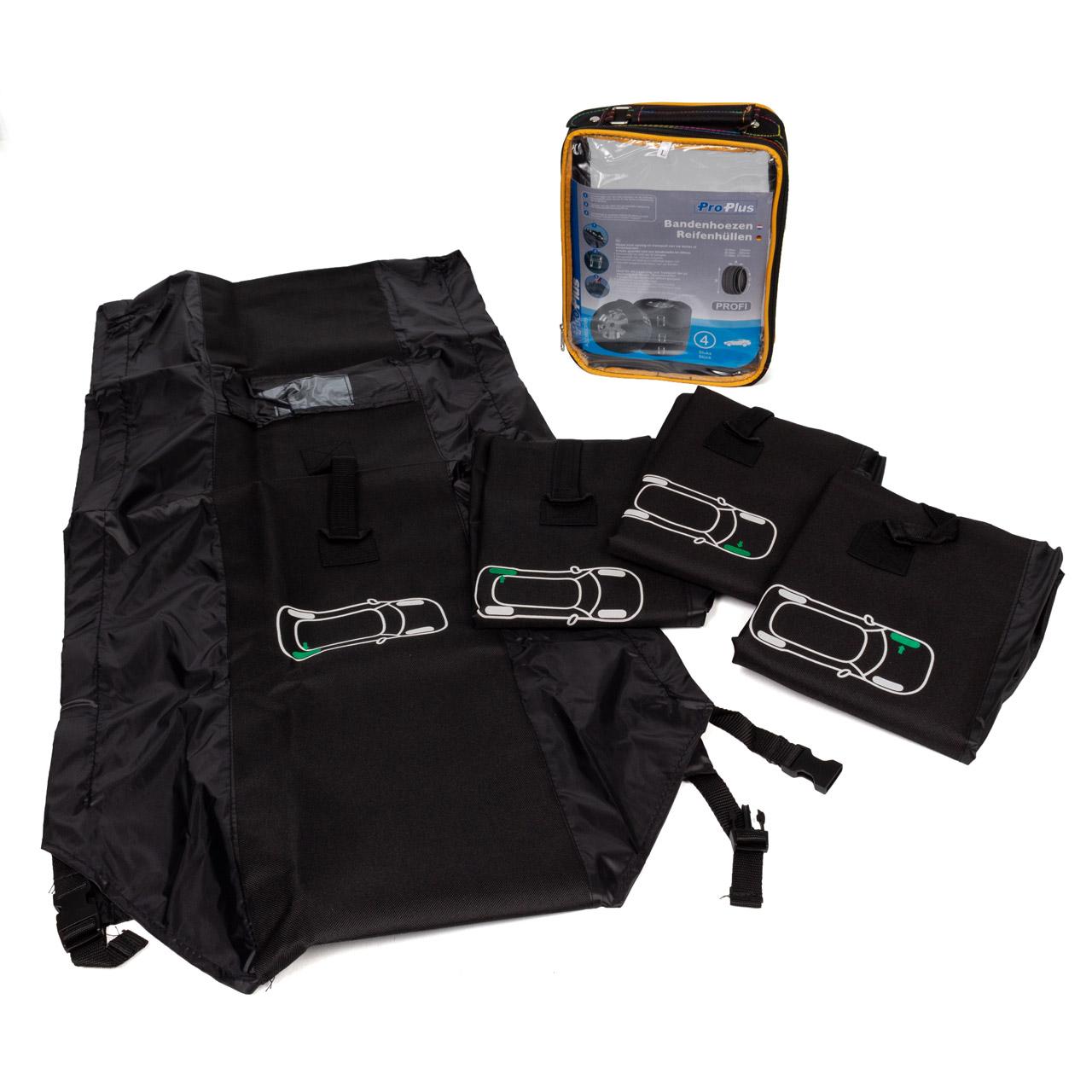 "PROPLUS Reifenhüllen Reifentaschen Schutzhülle PROFI Set 4 Stück Set 13""-18"" bis 240mm"