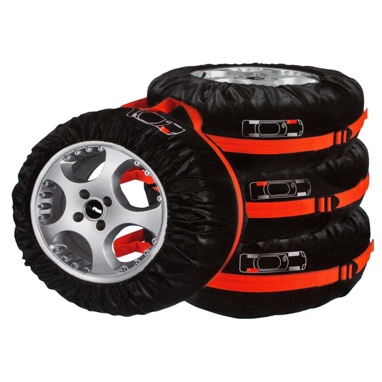 """PROPLUS Reifenhüllen Reifentaschen Schutzhülle Set 4 Stück 13""""- 18"""" bis 240mm"""