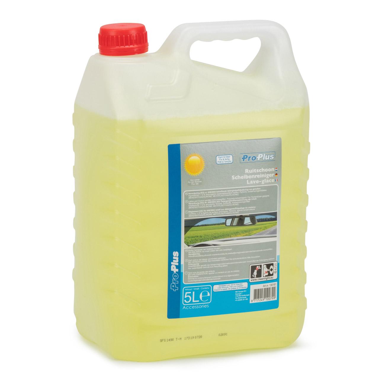 PROPLUS 130181 Scheibenreiniger Scheibenwischwasser Sommer Fertigmix 5 Liter