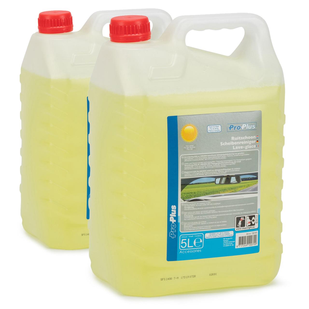 PROPLUS 130181 Scheibenreiniger Scheibenwischwasser Sommer Fertigmix 2x 5 Liter
