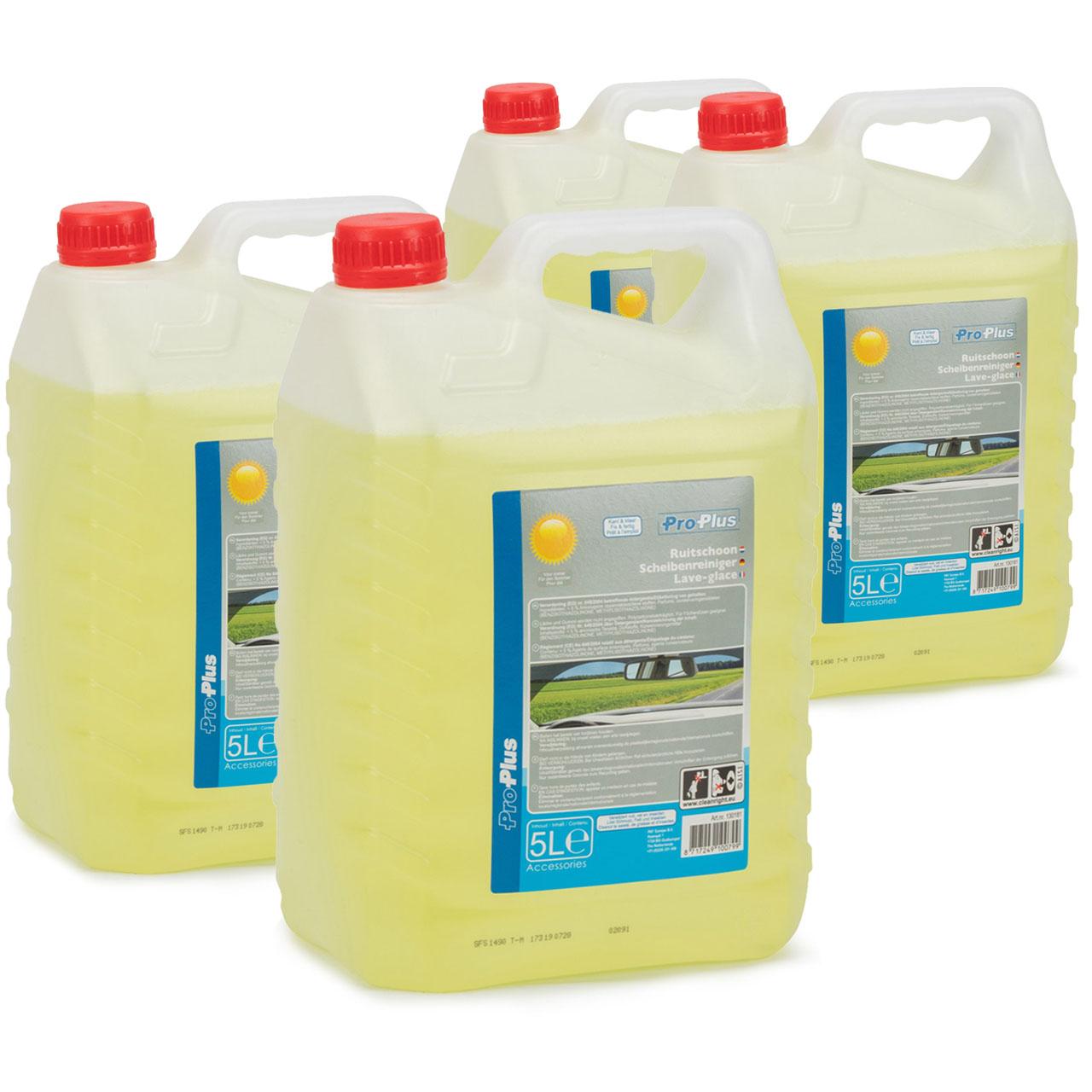 PROPLUS 130181 Scheibenreiniger Scheibenwischwasser Sommer Fertigmix 4x 5 Liter