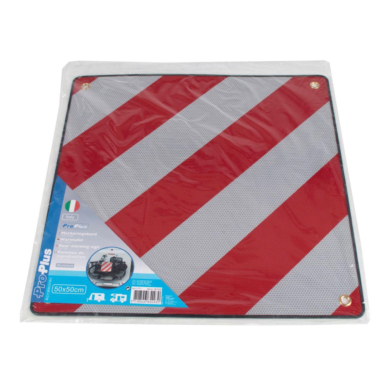 PROPLUS 361230 Alu-Warntafel Warnschild REFLEKTIEREND 50x50cm für Italien