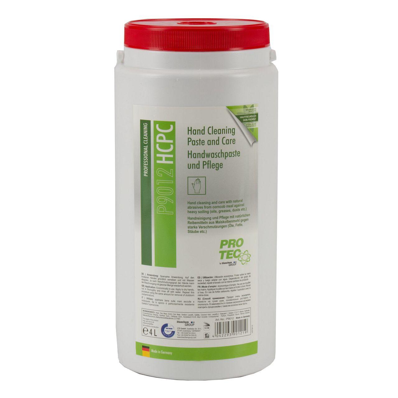 PROTEC P9012 HCPC Hand Cleaning Paste and Care Handwaschpaste und Pflege 4 Liter