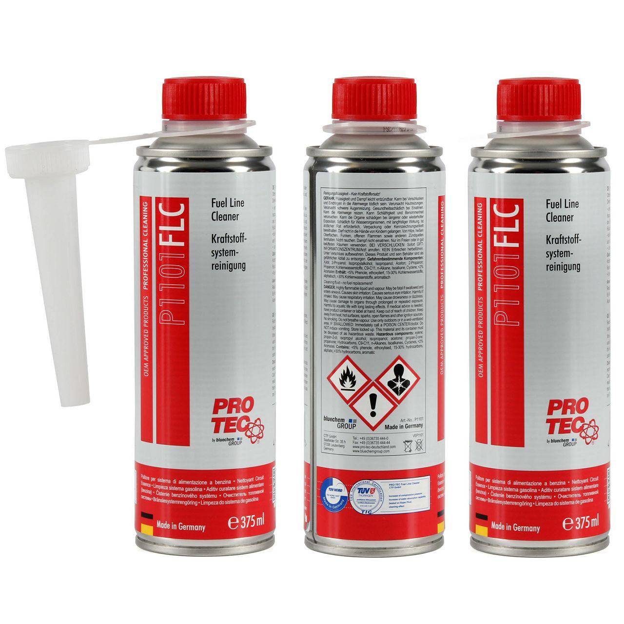 PROTEC P1101 FLC Fuel Line Cleaner Kraftstoffsystemreinigung Benzin 1,125L