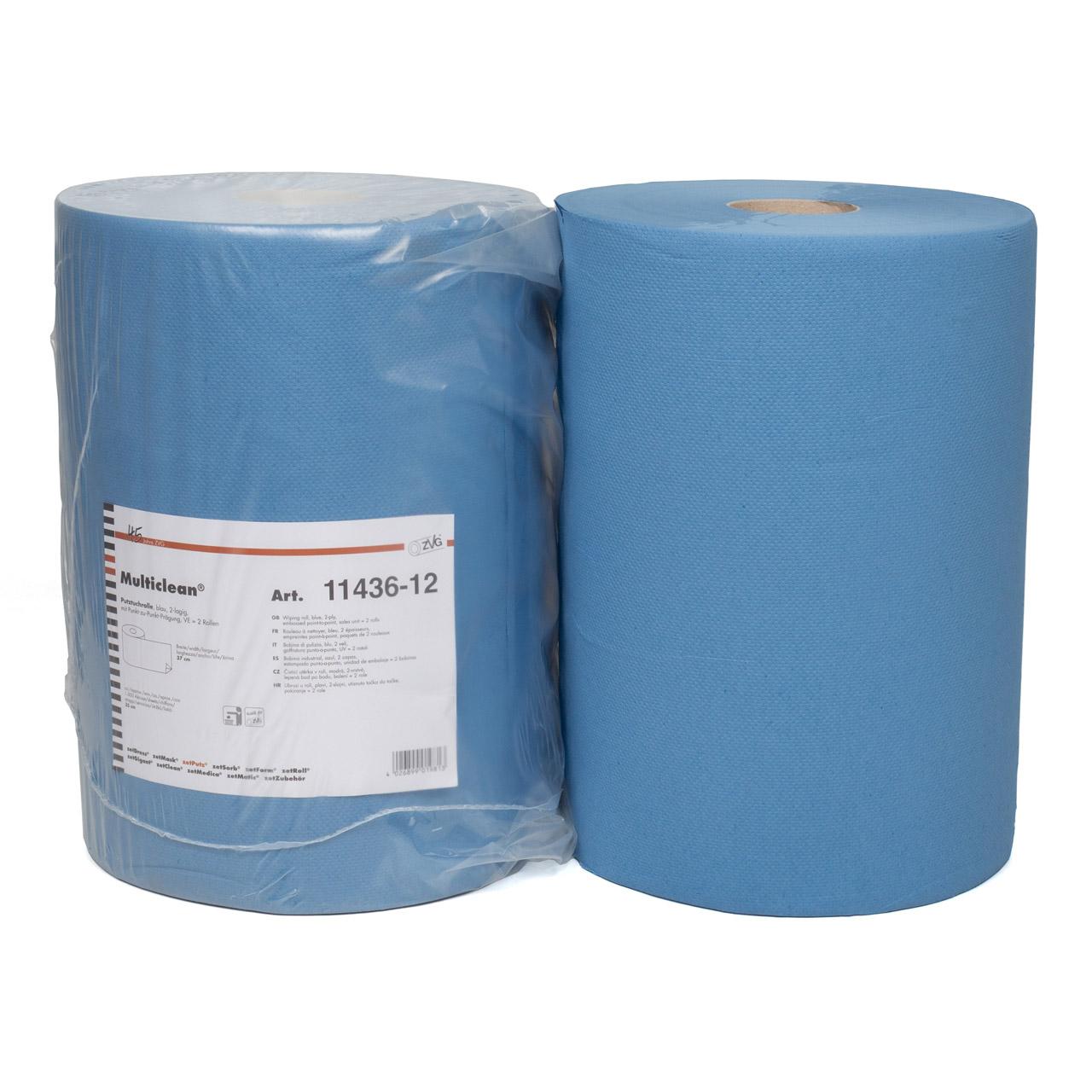 2x Papiertücher Putztücher Rolle Putztuchrolle Papiertücherrolle 2-LAGIG 37cm