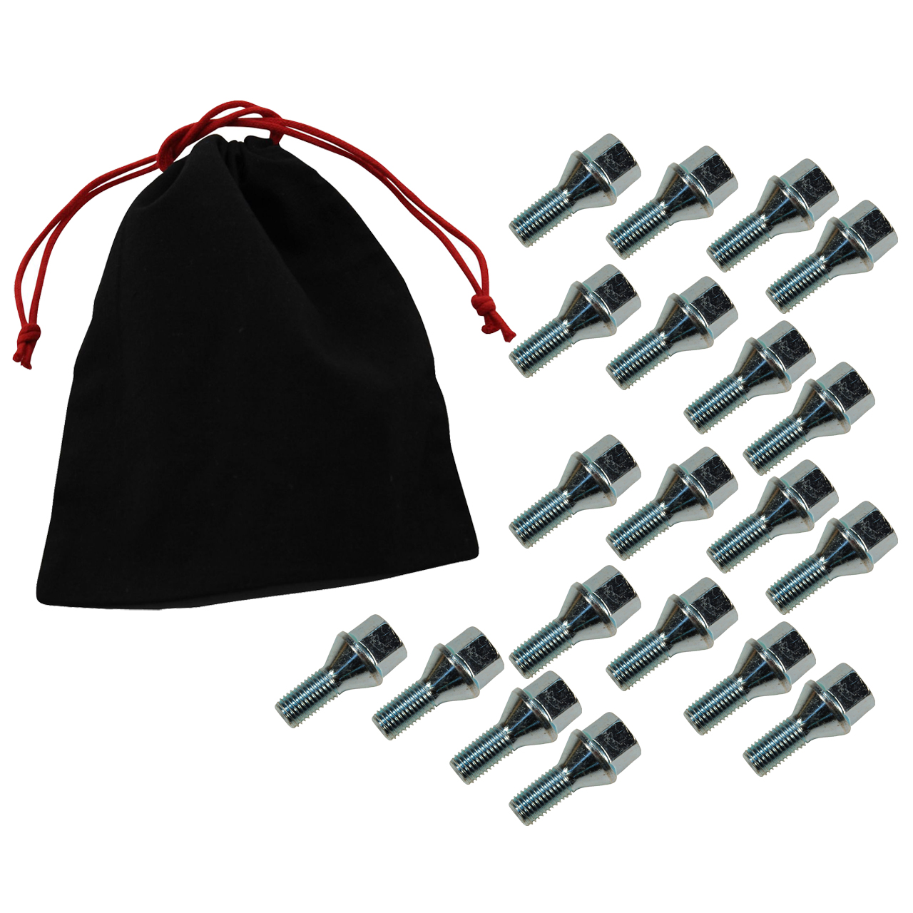 20x Radbolzen Radschrauben M12x1,5mm 22mm für FIAT OPEL SUZUKI 1008504 + Beutel
