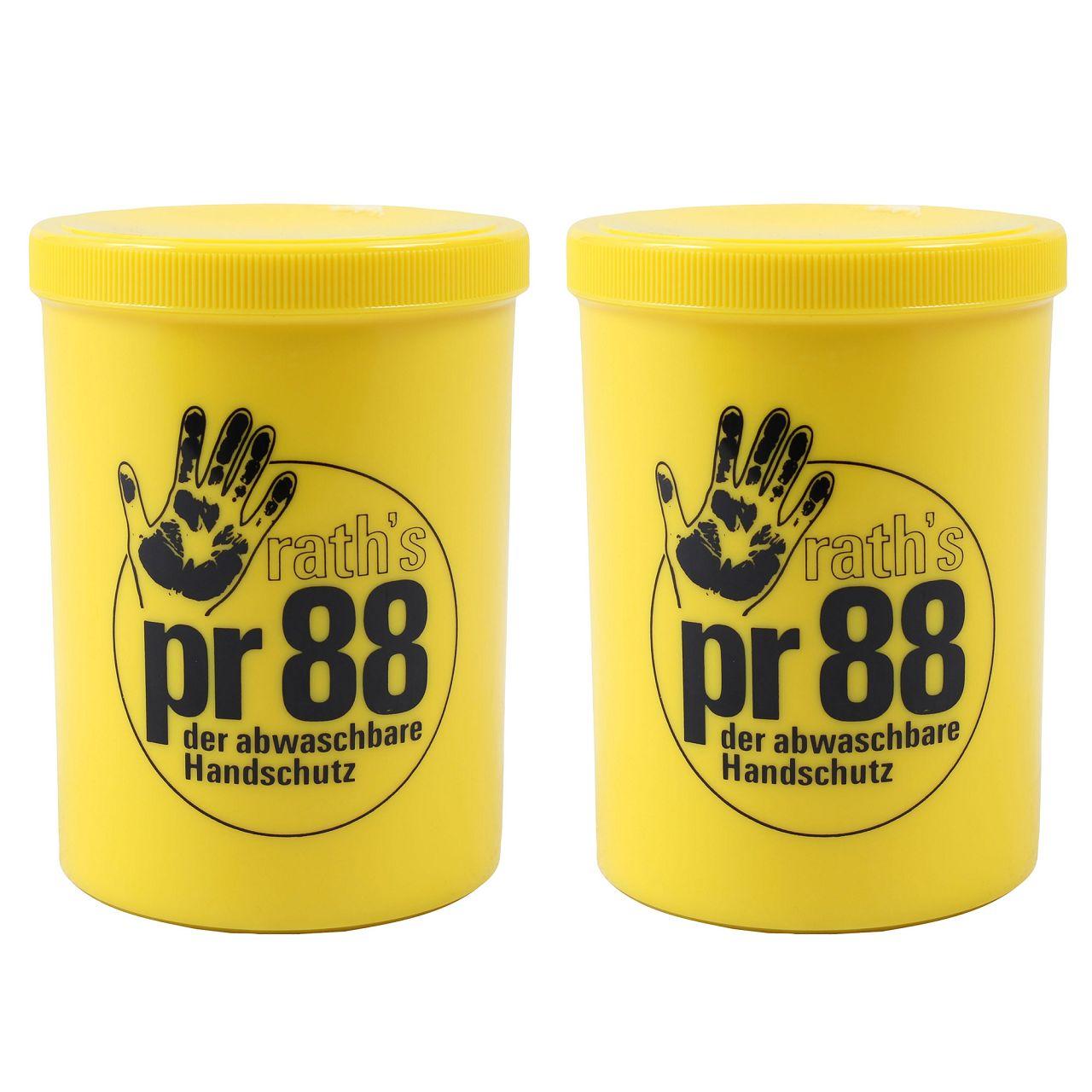 2x 1L 1 Liter RATH's Creme PR 88 Hautschutz der abwaschbare Handschuh Handcreme