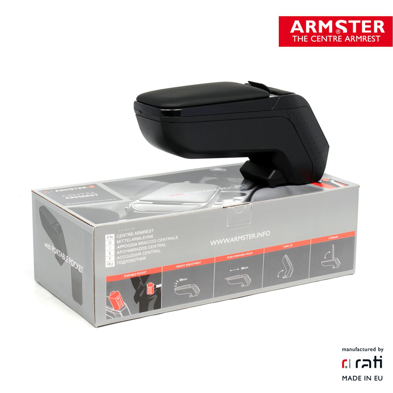 ARMSTER 2 - PREMIUM Armlehne Mittelarmlehne SCHWARZ für SEAT IBIZA V (KJ1)