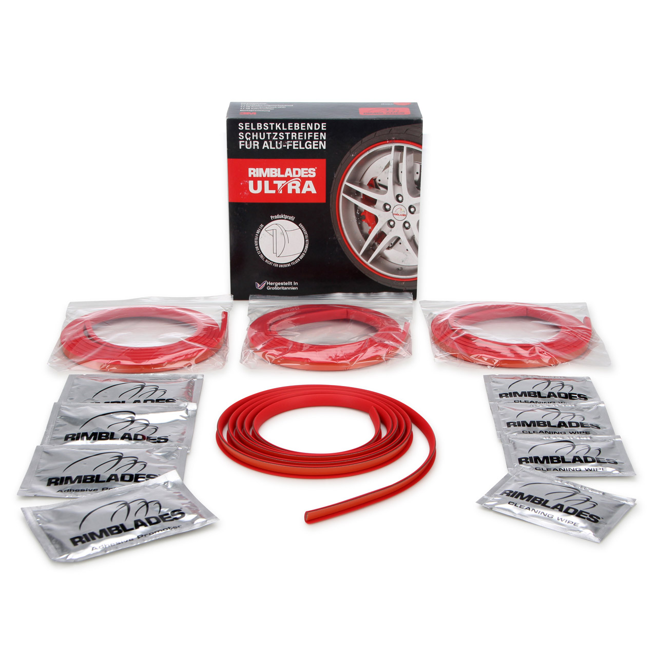 RIMBLADES Ultra Felgenschutz Felgenringe Rim Protector & Styling ROT bis 22 Zoll