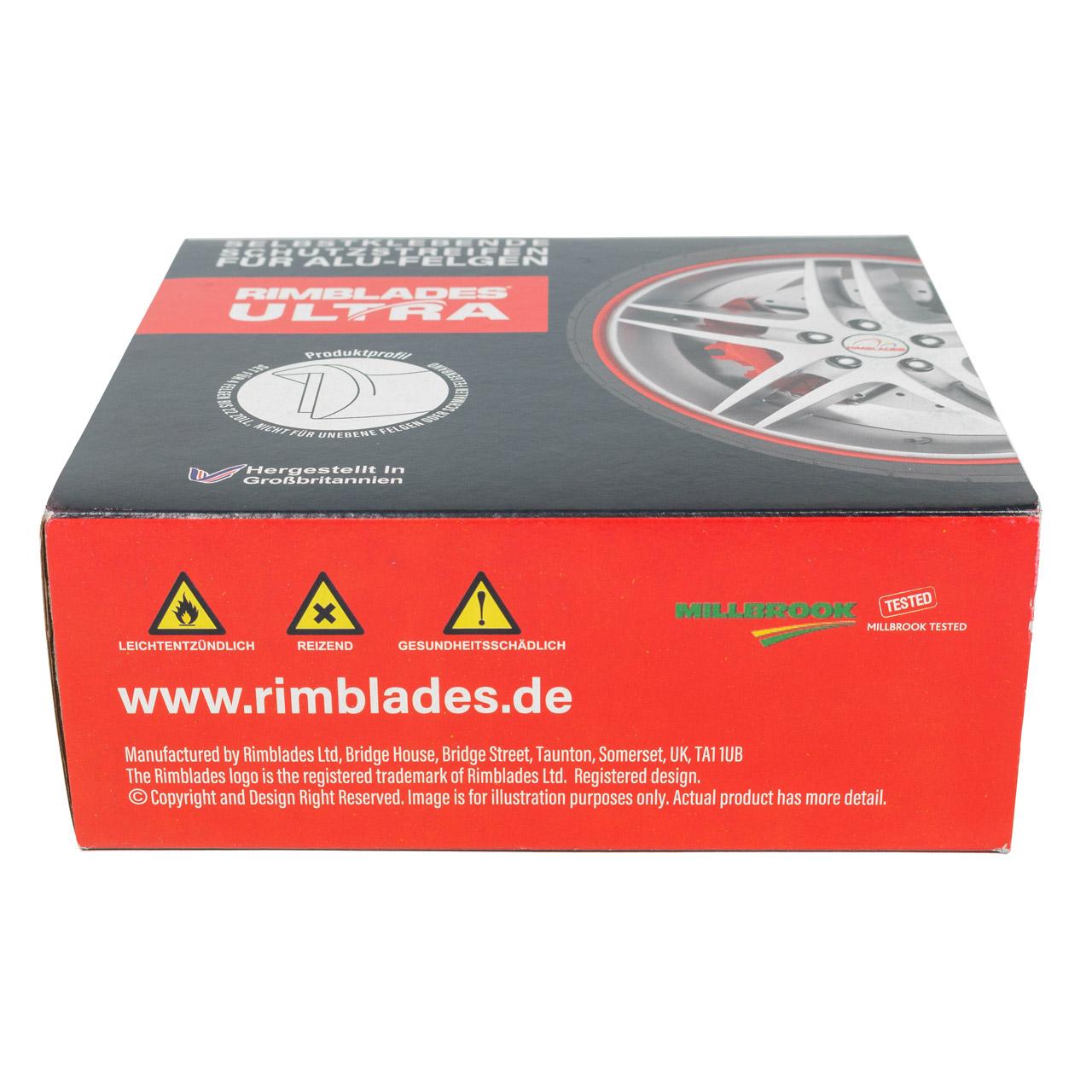 RIMBLADES Ultra Felgenschutz Felgenringe Rim Protector & Styling SILBER bis 22 Zoll