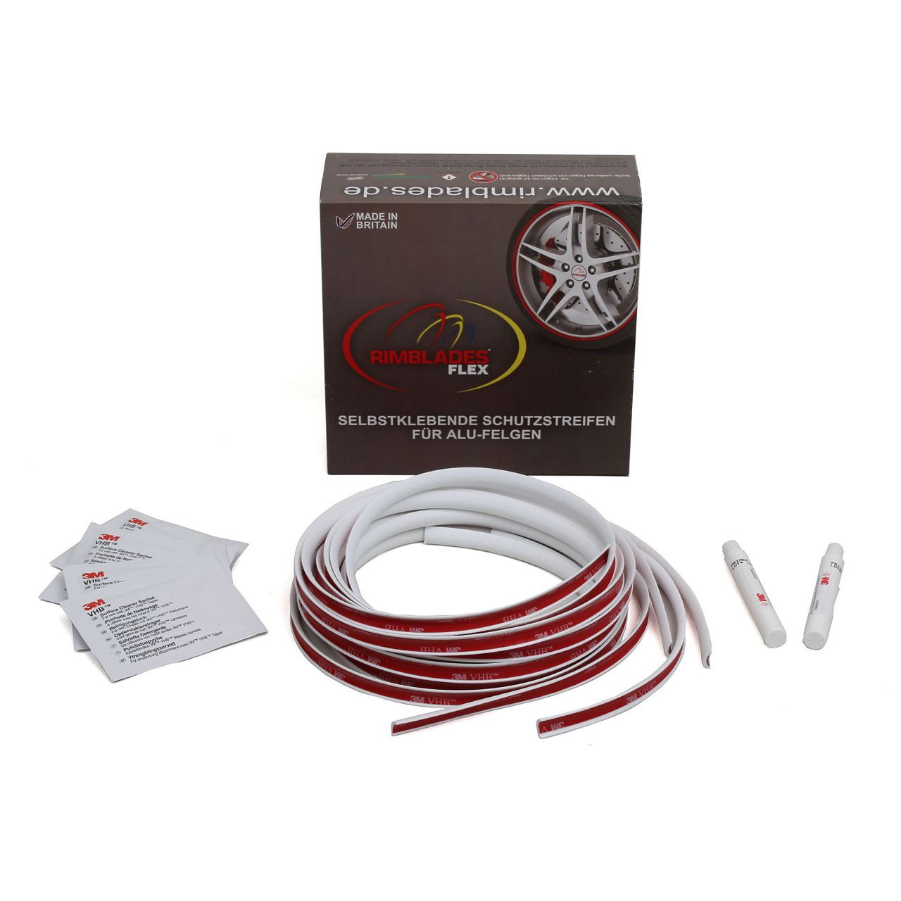 RIMBLADES Ultra Felgenschutz Felgenringe Rim Protector & Styling WEISS bis 22 Zoll