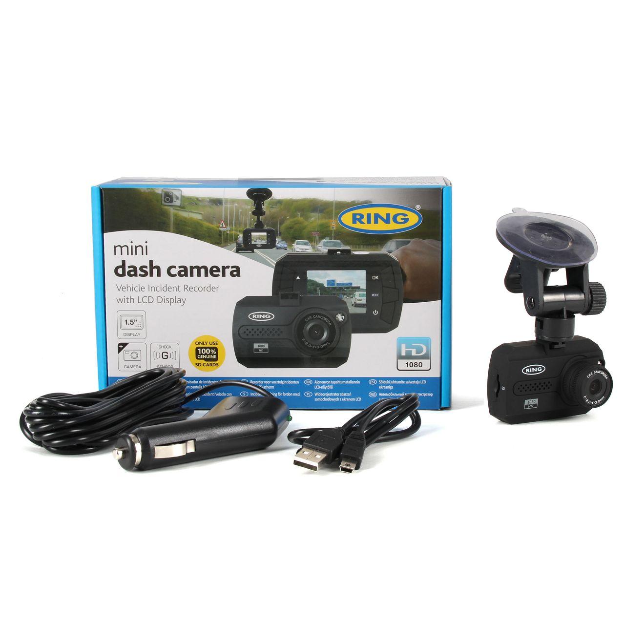 RING Dashcam Autokamera Überwachungskamera für MINI Full HD Videocam RBGDC15