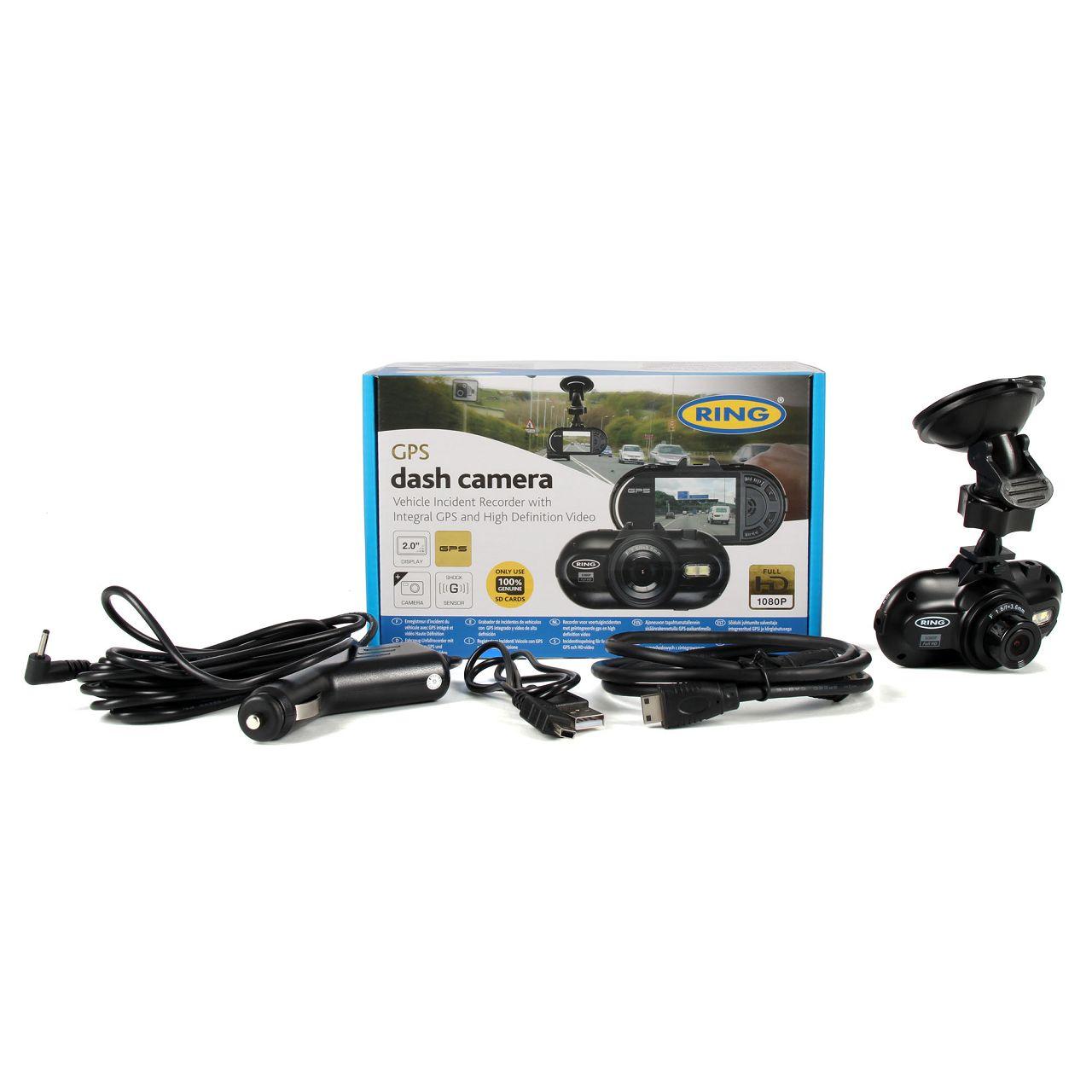 RING Dashcam Autokamera Überwachungskamera GPS Full HD Videocam RBGDC200